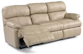 Chicago Leather Double Reclining Sofa  Flexsteel Array - Leather sofas chicago