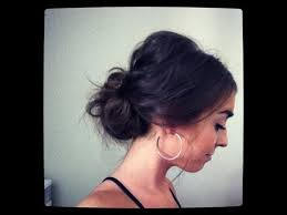 casual updo hairstyles front n back easy messy lower bun hairstyle youtube