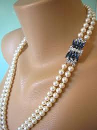 long vintage necklace images Sapphire necklace long pearl necklace great gatsby jewelry jpg