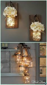 Diy Hanging Mason Jar String Lights Instruction Diy Christmas