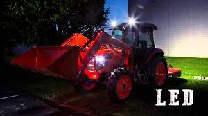 led tractor light bar kubota tractor changing to led lighting youtube