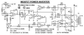 wiring diagram circuit diagram of 1000watts inverter circuit