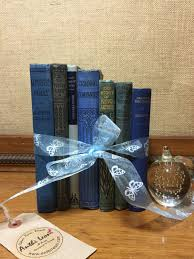 blue vintage book collection old books decoration interior blue vintage book collection old books decoration interior design shelf staging blue home decor custom sourced books