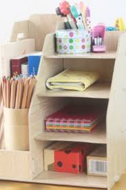 Desk Organizer Box Handy Diy Multifunctional Wooden Folder For Books Desk Organizer