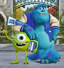 monsters university shows sulley mike friends