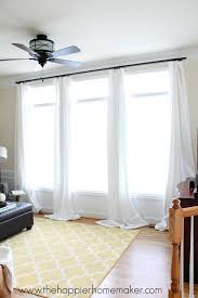 how to hang curtains without holes renter friendly window treatments