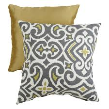 Grey Decorative Pillows Pillow Perfect Decorative Gray And Yellow Damask Square Toss