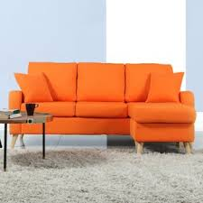 Orange Sofa Chair Orange Sectional Sofas You U0027ll Love Wayfair