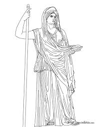 hera the greek matron goddess coloring pages hellokids com