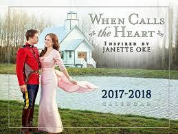 when calls the heart 2017 2018 full size calendar sept 2017 dec