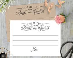 Advice To Bride And Groom Cards Advice Cards Printable Advice Cards For The Bride And Groom