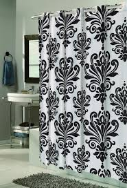 Black White Shower Curtain Carnation Home Fashions Inc Ez On Fabric Shower Curtains No