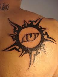 sun back tattoo designs