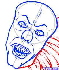 draw pennywise pennywise pennywise clown step