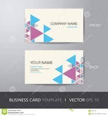 business card triangle abstract background design layout templat