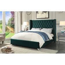 Walmart Upholstered Bed Everly Quinn Inverness Upholstered Platform Bed Walmart Com