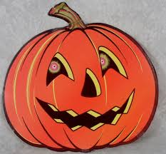 beistle halloween pumpkin jack o lantern head die cut paper decoration