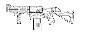 nerf gun coloring pages at ffftp net