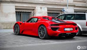 red porsche 918 porsche 918 spyder 14 june 2017 autogespot