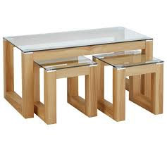 side table set of 2 buy hygena cubic coffee table set with 2 side tables coffee tables