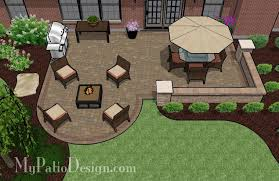 Patio Layout Design Dreamy Paver Patio Design With Seat Wall 525 Sq Ft Brick