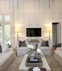 2 story living room diagonal wainscot southern living