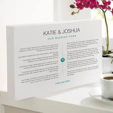To My Wife On Our Wedding Day Card Your Wedding Vows As A Personalised Print Or Canvas Chatterbox Walls