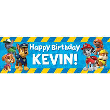 personalized paw patrol pawesome birthday banner 72
