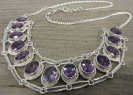 amethyst necklace silver images Amethyst and sterling silver handmade necklace february birthstone jpg