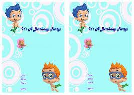 bubble guppies birthday invitations u2013 birthday printable