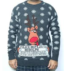 rudolph sweater jailed rudolph reindeer sweater