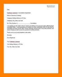 100 insurance cancellation letter sle template contract