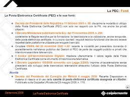 presidenza consiglio dei ministri pec la posta elettronica certificata ppt scaricare