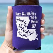 personalized wedding koozies southern koozie wedding favors louisiana favors