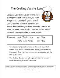 cooking cousins teaches the sounds made by oo book oo food