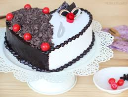 heart shaped black forest vanilla cake cherry my love cake for