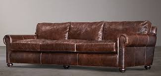 Lancaster Leather Sofa Restoration Hardware Lancaster Leather Sofa In Carroll Gardens