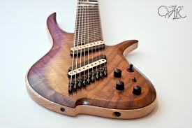 Vik Guitars Fanned Fret 9 String Guitar Guitarporn