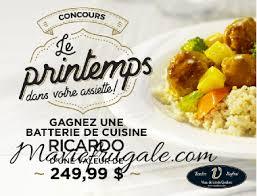 ricardo cuisine concours concours batterie de cuisine ricardo à gagner