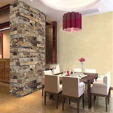 Tile In Dining Room by Modern Vintage 3d Effect Natural Embossed Stack Stone Brick Tile