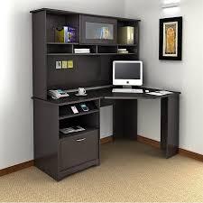 espresso desk with hutch bush cabot 60 corner desk with hutch in espresso oak espresso