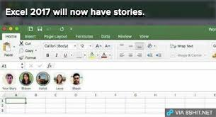 Meme Stories - excel 2017 will now have stories will now have stories know your