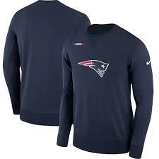 patriots sweater s patriots nike navy sideline team logo