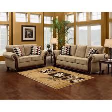 microfiber sofa and loveseat sofa trendz brown beige microfiber wood sofa and loveseat set of 2