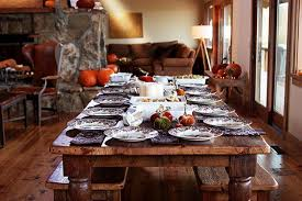 zombies were here thanksgiving table farming and kitchens