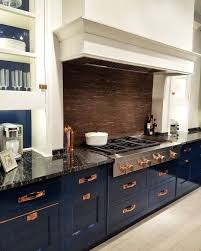 blue kitchen cabinets with copper hardware what ya got cookin up this weekend this kitchen can t