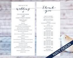 easy wedding programs wedding program templates wedding templates and printables