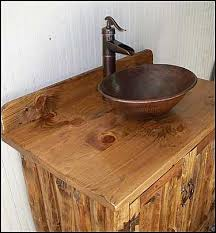 Bronze Faucets Bathroom Sink Photo Of Side View Rustic Bathroom Vanity Southwestern Rustic