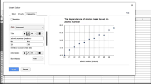 how to make a graph in google sheets scatter plot youtube