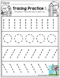 large dashed writing lines printable sheet strips kids crafts